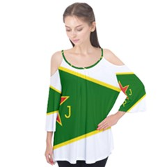 Flag Of The Women s Protection Units Flutter Tees
