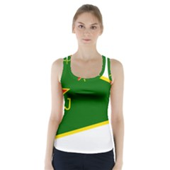 Flag Of The Women s Protection Units Racer Back Sports Top