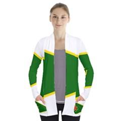 Flag Of The Women s Protection Units Women s Open Front Pockets Cardigan(P194)