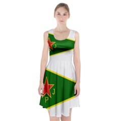 Flag Of The Women s Protection Units Racerback Midi Dress