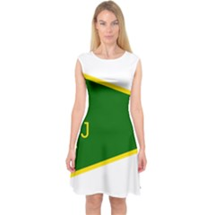 Flag Of The Women s Protection Units Capsleeve Midi Dress