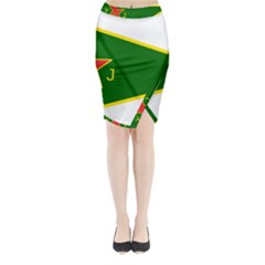 Flag Of The Women s Protection Units Midi Wrap Pencil Skirt