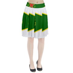 Flag Of The Women s Protection Units Pleated Skirt