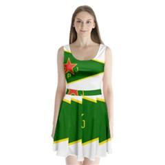 Flag Of The Women s Protection Units Split Back Mini Dress