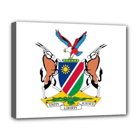 Coat Of Arms Of Namibia Deluxe Canvas 20  x 16
