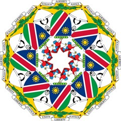 Coat Of Arms Of Namibia Golf Umbrellas