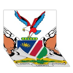 Coat Of Arms Of Namibia Circle Bottom 3D Greeting Card (7x5)