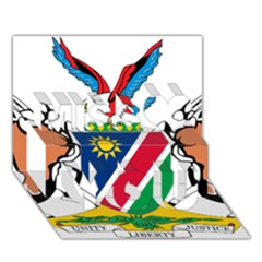 Coat Of Arms Of Namibia Miss You 3d Greeting Card (7x5)