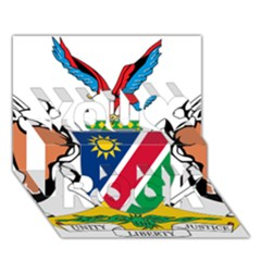 Coat Of Arms Of Namibia You Rock 3d Greeting Card (7x5)