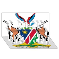 Coat Of Arms Of Namibia Laugh Live Love 3D Greeting Card (8x4)