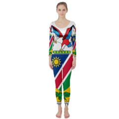 Coat Of Arms Of Namibia Long Sleeve Catsuit