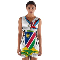 Coat Of Arms Of Namibia Wrap Front Bodycon Dress