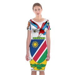 Coat Of Arms Of Namibia Classic Short Sleeve Midi Dress