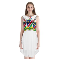 Coat Of Arms Of Namibia Sleeveless Chiffon Dress