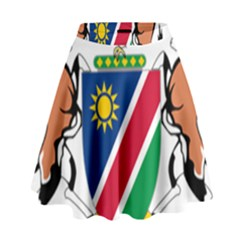 Coat Of Arms Of Namibia High Waist Skirt