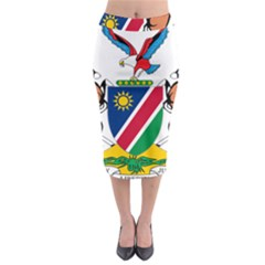 Coat Of Arms Of Namibia Midi Pencil Skirt