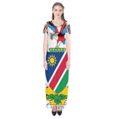 Coat Of Arms Of Namibia Short Sleeve Maxi Dress