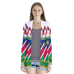 Coat Of Arms Of Namibia Drape Collar Cardigan