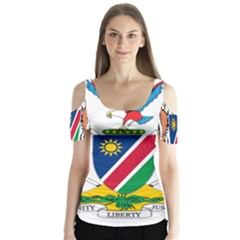 Coat Of Arms Of Namibia Butterfly Sleeve Cutout Tee
