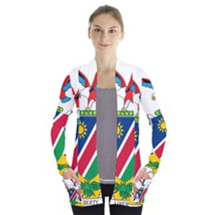 Coat Of Arms Of Namibia Women s Open Front Pockets Cardigan(p194)