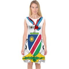 Coat Of Arms Of Namibia Capsleeve Midi Dress