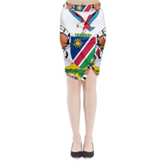 Coat Of Arms Of Namibia Midi Wrap Pencil Skirt