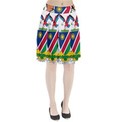 Coat Of Arms Of Namibia Pleated Skirt