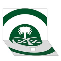 Roundel Of The Royal Saudi Air Force Heart Bottom 3D Greeting Card (7x5)