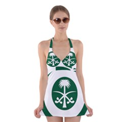 Roundel Of The Royal Saudi Air Force Halter Swimsuit Dress