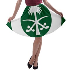 Roundel Of The Royal Saudi Air Force A-line Skater Skirt