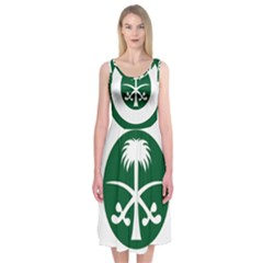Roundel Of The Royal Saudi Air Force Midi Sleeveless Dress