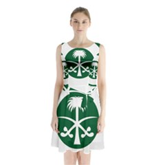 Roundel Of The Royal Saudi Air Force Sleeveless Waist Tie Dress