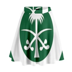 Roundel Of The Royal Saudi Air Force High Waist Skirt