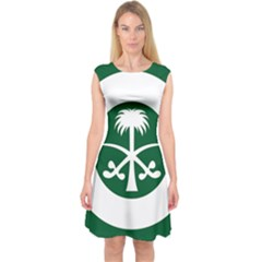 Roundel Of The Royal Saudi Air Force Capsleeve Midi Dress