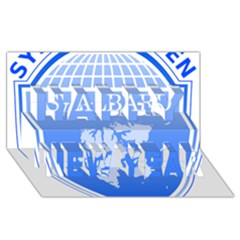Coat Of Arms Of Svalbard Happy New Year 3D Greeting Card (8x4)