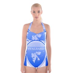Coat Of Arms Of Svalbard Boyleg Halter Swimsuit