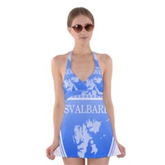 Coat Of Arms Of Svalbard Halter Swimsuit Dress