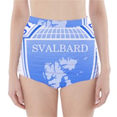 Coat Of Arms Of Svalbard High-Waisted Bikini Bottoms