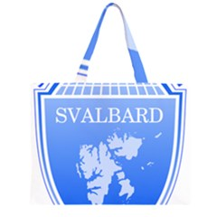 Coat Of Arms Of Svalbard Large Tote Bag