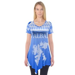 Coat Of Arms Of Svalbard Short Sleeve Tunic
