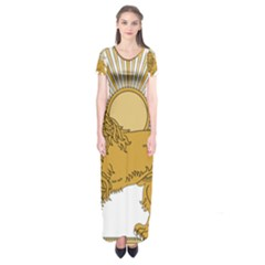 National Emblem Of Iran, Provisional Government Of Iran, 1979 1980 Short Sleeve Maxi Dress