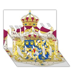 Greater Coat Of Arms Of Sweden  Miss You 3D Greeting Card (7x5)