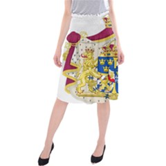 Greater Coat Of Arms Of Sweden  Midi Beach Skirt