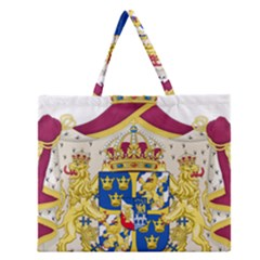 Greater Coat Of Arms Of Sweden  Zipper Large Tote Bag