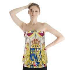 Greater Coat Of Arms Of Sweden  Strapless Top