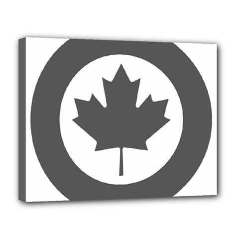 Low Visibility Roundel Of The Royal Canadian Air Force Canvas 14  x 11