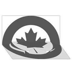 Low Visibility Roundel Of The Royal Canadian Air Force Twin Heart Bottom 3D Greeting Card (8x4)