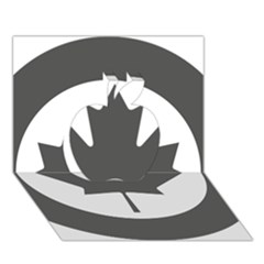 Low Visibility Roundel Of The Royal Canadian Air Force Apple 3D Greeting Card (7x5)