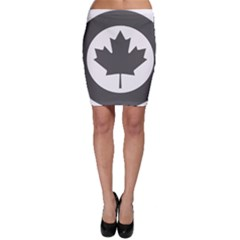 Low Visibility Roundel Of The Royal Canadian Air Force Bodycon Skirt