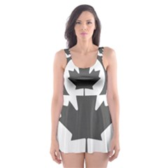 Low Visibility Roundel Of The Royal Canadian Air Force Skater Dress Swimsuit